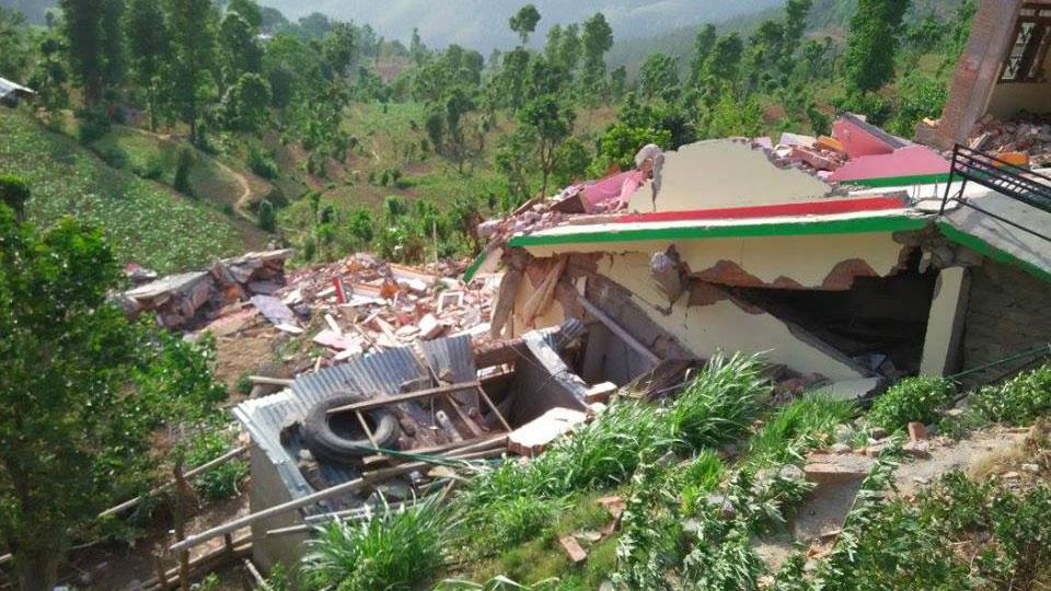In Heutada sind Großteile der Häuser komplett zerstört