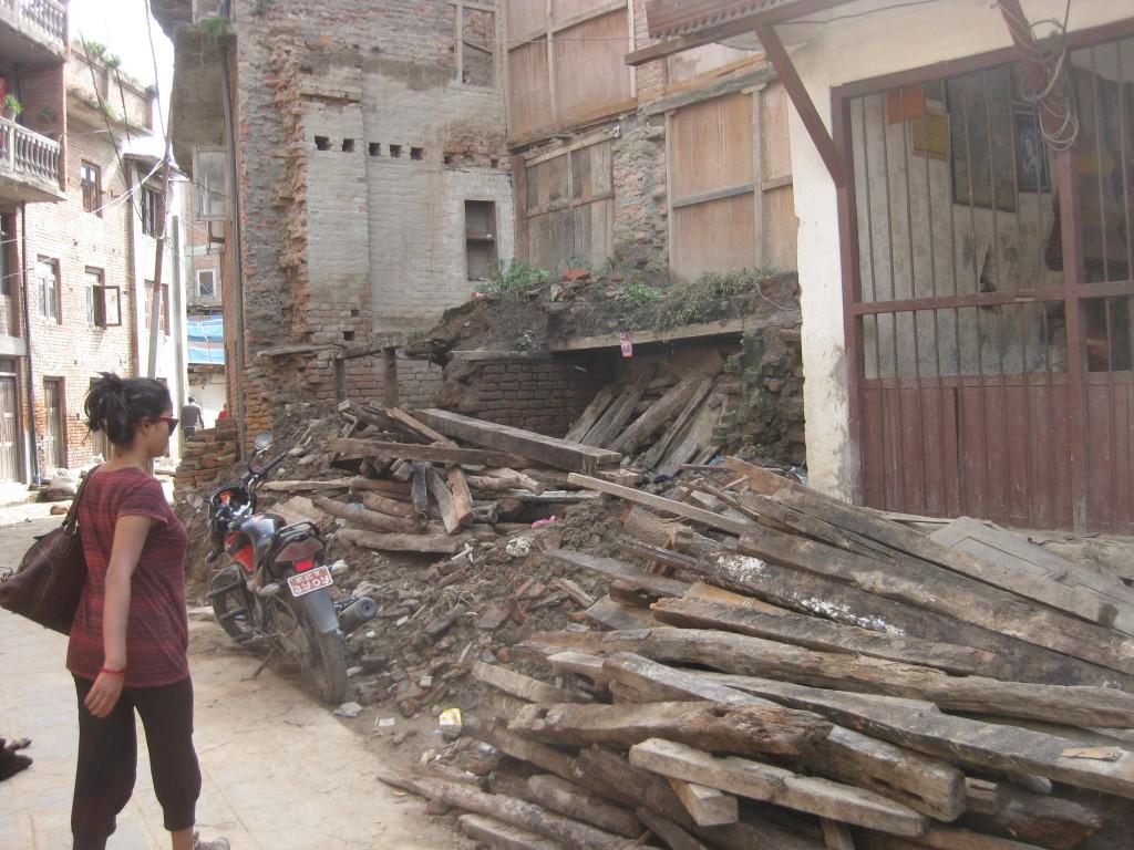 So sieht es im alten Teil von Khokhana aus.